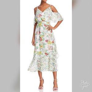 Nanette Lepore Cold Shoulder Floral Dress- ChicEwe